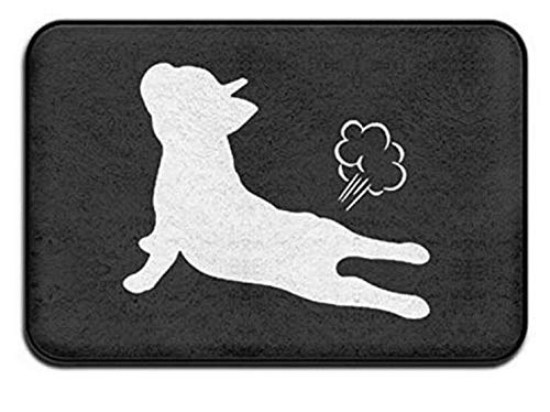 CoolsomeJies Mats French Bulldog Yoga Exhale Non-Slip Doormat Funny Rubber Door Rug Bath Mat All Weather Absorbent for Entrance Way Outdoors,Farmhouse,Living Room Etc