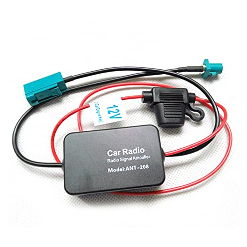 HUAHUA JCSU Store Antena De Coche Amplificador De Señal De Radio FM Antena Antena ANT-208 FM Amplificador De Señal De Radio Ajuste para Conector (Color : Black)