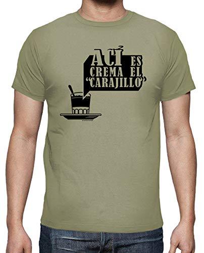 latostadora - Camiseta AC para Hombre Caqui S