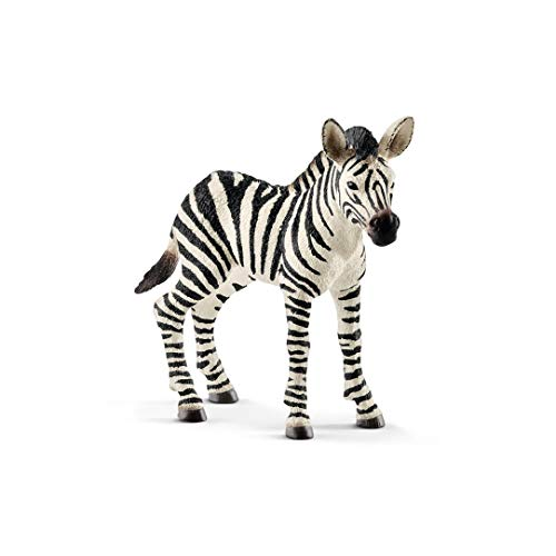 SCHLEICH Wild Life, Animal Figurine, Animal Toys for Boys and Girls 3-8 Years Old, Zebra Foal