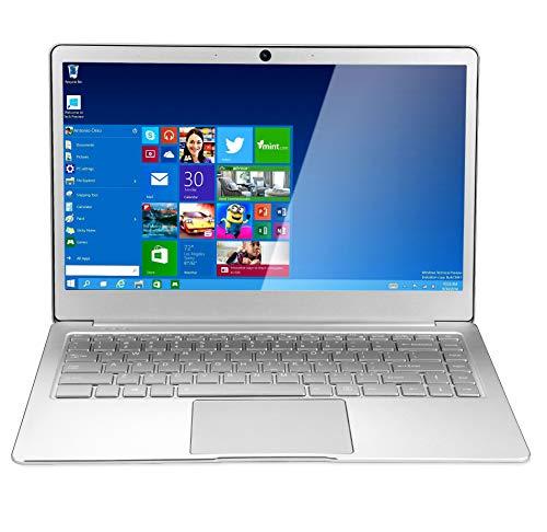 【Office 2010 Windows 10標準搭載 】 14.1インチ狭額縁 J3455静音CPU 8GB RAM/64GB ROM 薄型高性能ノートパソコン6時間長時間駆動 無線LAN内蔵 ノートPC 無線マウス付き (HDD容量(64G), シルバー)