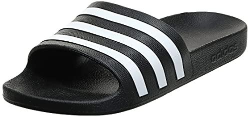 adidas unisex adult Adilette Aqua Slide Sandal, Core Black/Core Black/Core Black, 9 Women Men US