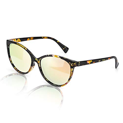 TJUTR Gafas de sol polarizadas retro para mujer, gafas de conducción antideslumbrantes con protección UV