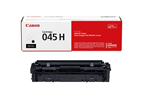 Canon Genuine Toner, Cartridge 045 Black, High Capacity (1246C001), 1 Pack, for Canon Color imageCLASS MF634Cdw, MF632Cdw, LBP612Cdw Laser Printers,High Yield Black