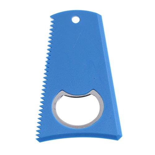 B Baosity Cepillo de Cera de Surf con Abridor De Botellas Accesorio de Tabla Eliminar de Azul Deportes acuáticos