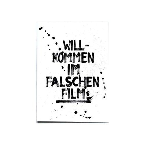 Formart Postkarte Willkommen im falschen Film