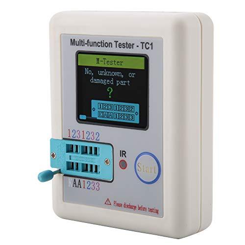 Probador eléctrico Resistencia de inductancia Medidor de transistor de 1.8 pulgadas Probador multifuncional para NPN y PNP para resistencia para batería