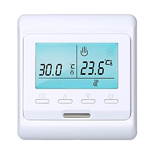 Explopur Termostato Inteligente programable WiFi Sensor inrporado n Pantalla LCD ntrolador de Temperatura Digital APLICACIÓN ntrol Remoto