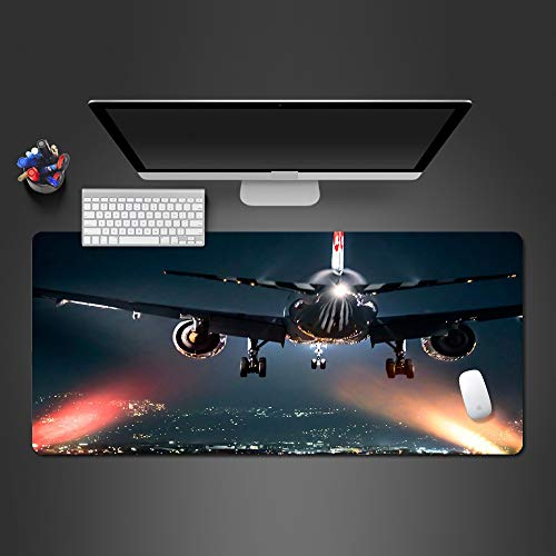 Mouse Pad 900X400*3Mm Mooi Vliegtuig Mouse Pad Game Spelers Rubber Mousepad Pc Game Mousepad Grote Kwaliteit muismat