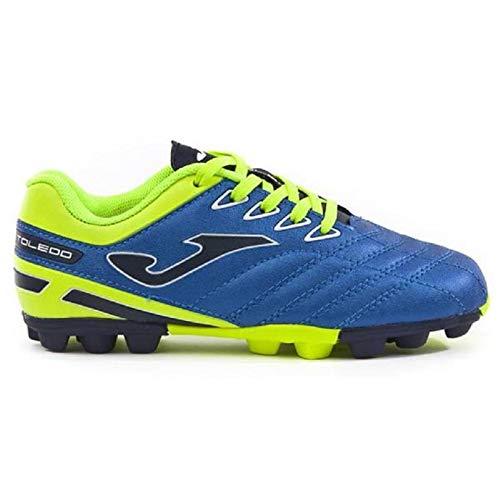 -Joma - Botas de fútbol de Sintético para niño Azul Azul Claro Azul Size: 35 EU