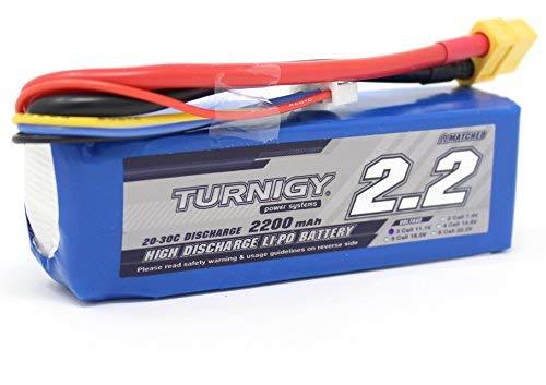molinoRC Turnigy LiPo-Pack 3S - Batería de polímero de litio (11,1 V, 2200 mAh, 20-30 C)
