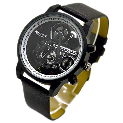 Assassins Creed Herren-Armbanduhr, elektronisch, Quarz-Uhrwerk, Schwarz