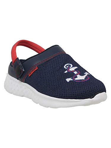 KazarMax Navy Anchor Fashion Slipon's/Sandals/Hopits/Clogs and Mules for Kids(Size : 33) [KC012]