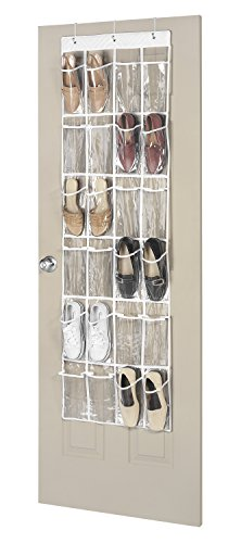 Whitmor 24 Pocket OTD Shoe Organizer Clear