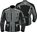 MBS MJ21 James Motocicleta Motocicleta larga chaqueta de viaje textil (antracita, M)