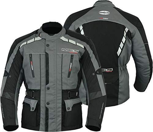MBS MJ21 James Motocicleta Motocicleta larga chaqueta de viaje textil (antracita, L)