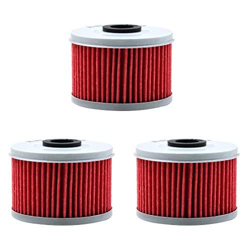 AHL 113 Oil Filter for Honda TRX450ES Foreman ES 433 1998-2001 / TRX400EX 397 1999-2008 / TRX300EX TRX300 EX 1993-2008 / TRX300 Fourtrax 280 1990-2001 / TRX450FE Foreman ES 450 2004(Pack of 3)