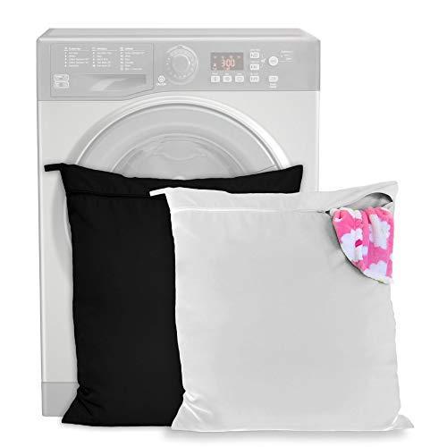 2 Stück Wäschesack für Haustiere - hält Ihre Waschmaschine frei von Haaren - Reißverschluss & Schlaufe - für Hunde, Katzen, Pferde - Ideal für Handtücher, Decken, Spielzeug, Geschirr etc
