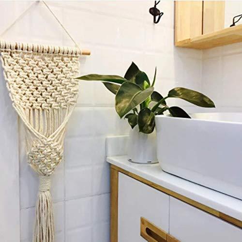 alpscale tapijt Boheemse handgeweven hangtas handgemaakte Nordic geweven tapijt bloempot opknoping mand opknoping net ornamenten decoratie