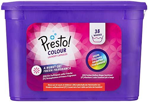 Marchio Amazon - Presto! Detersivo in capsule per capi colorati 152 lavaggi (4 confezioni da 38 lavaggi)