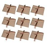 30 Piezas Vintage Kraft Cinta Sobres Wolintek Regalo Sobres de Tarjeta de Boda Fiesta Oficina (tamaño:17.2 x 12.5 cm) (marrón)