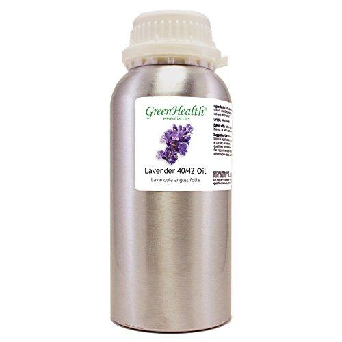 Lavender 40-42 – 32 fl oz (946 ml) Aluminum Bottle w/Plug Cap – 100% Pure Essential Oil – GreenHealth