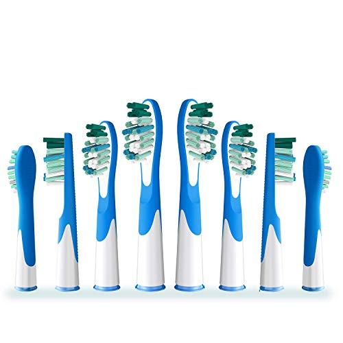 HISOPHIA Ersatz Aufsteckbürste, kompatibel mit Braun Oral B Sonic VITALITÄT (8 Stück)