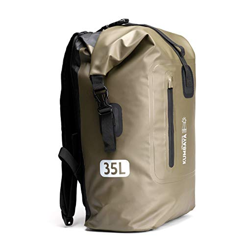 Kumbaya R1-BG Waterproof Rucksack in Battle Green | Backpack Dry Bag