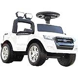 足けり 乗用カー フォード レンジャー 乗用玩具 足けり車 LEDヘッドライト点灯 クラクション&ミュージック 乗り物 車のおもちゃ 乗物玩具 (WHITE)