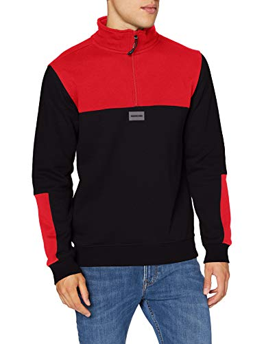 DC Shoes Downing-Sweat Demi-Zip col Montant pour Homme, Racing Red, FR : 2XL (Taille Fabricant : XXL)