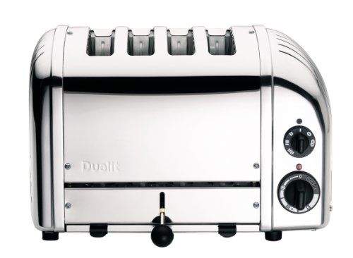 Dualit 47030 Classic New Generation 4 Scheiben Toaster, 18/8 Edelstahl