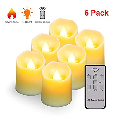 Flameless LED Candle Tea Lights,Flickering Realistic Flames Fake Candle Lights with Remote & Timer,Emergency Bright Tealights for Illumination,Vow,Decoration.