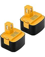 Enermall EY9200 EZ9200 パナソニック Panasonic互換バッテリー(2個セット) 12V 3000mAh EZ9200 EZ9200S EZ9107 EY9200(B) EY9108(S) EY9201(B) EY9001 EZT901 対応 ニッケル水素電池 松下電動工具 12V対応