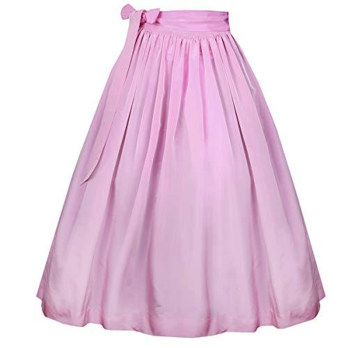 Hammerschmid Damen Trachten-Mode Dirndlschürze in Rosa, Größe:S, Farbe:Rosa