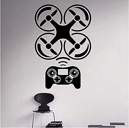 Muurstickers Art Decal Vinyl Murals Drone Aircrafthomeart Verwijderbare Kinderkamer Kinderkamer Kinderkamer Kinderkamer 58X87 cm