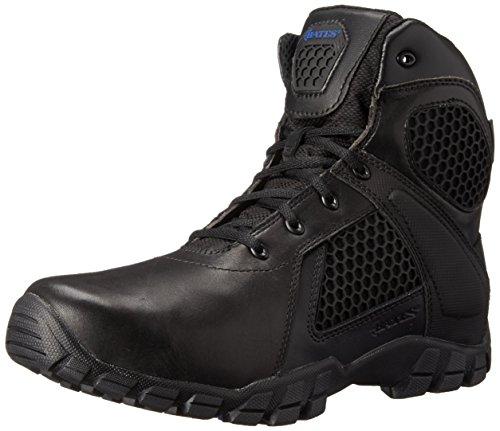 Bates Men's 6 Inch Strike Side Zip Waterproof Tactical Boot, Black, 9.5 M US