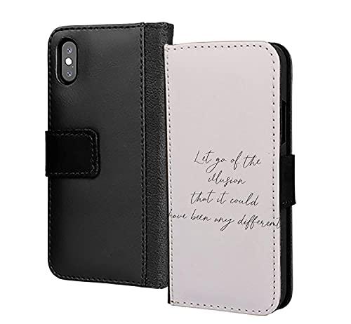 Dejar ir de la ilusión puede ser diferente PU cuero cartera en la tarjeta teléfono caso cubierta para Google Pixel 2 XL