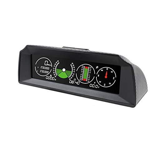 GYFHMY Auto-Neigungsmesser GPS-Tachometer, Multifunktions-Clinometer mit elektronischem Kompass, HD-LCD-Hintergrundbeleuchtung, Schlafmodus, Smart für Geländewagen