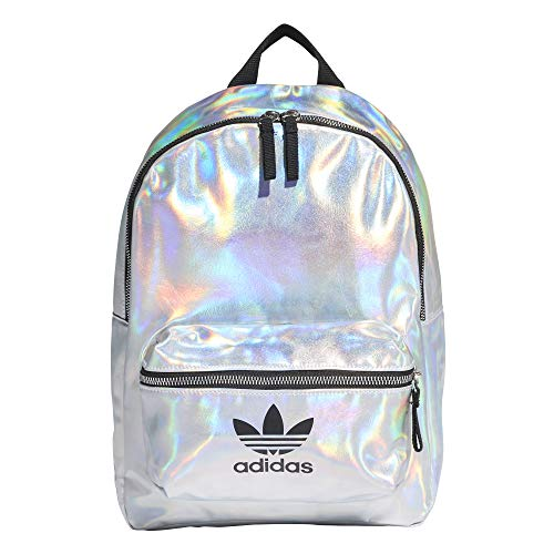 adidas Damen Sports Backpack PU METALLIC, silver met./iridescent, NS, FL9631