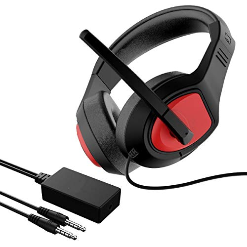 Auriculares estéreo para juegos con sonido envolvente 7.1 y conector de 3,5 mm, para PS4 PC, Xbox One S X Nintendo Switch PC, ordenador portátil, Mac, cancelación de ruido, auriculares con micrófono