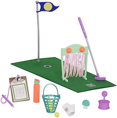 Glitter Girls by Battat Scores That Shine Mini Golf Set for 14 Dolls Toys Clothes Accessories product image