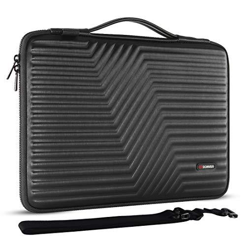 DOMISO 15.6 inch Laptop Sleeve Shoulder Bag Shockproof Case Waterproof Protective EVA Handbag for 15.6' Lenovo Yoga 720 IdeaPad 310 320 ThinkPad T570/Dell Inspiron 15/HP Envy 15/15.6' Notebooks