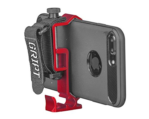 GRIPT Smartphone Hand Gript - Pocket Tripod Adapter, iPhone Hand Grip and Video Accessory Mount - Red