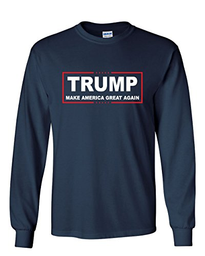 Trump Long Sleeve T-Shirt Make America Great Again Navy Blue XL