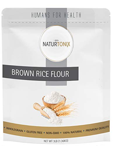 Naturtonix Brown Rice Flour, 3LB's, Gluten Free and Non GMO, Certified Kosher, Product of the USA