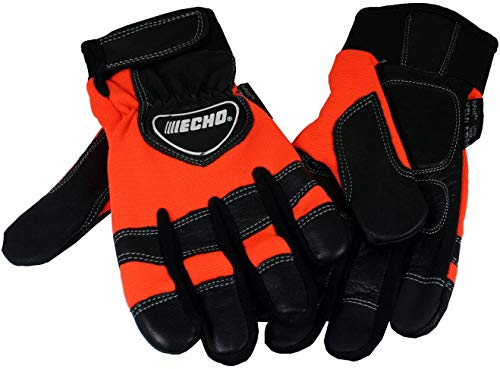 Echo 99988801601 Chainsaw Kevlar Reinforced Protective Gloves - Large