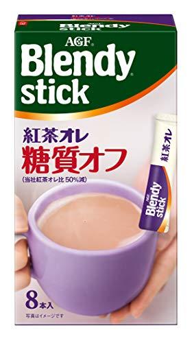 AGF ブレンディスティック 紅茶オレ 糖質オフ 8本 ×6箱 粉末