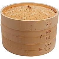 Honsundy 2 Tier Handmade Natural Bamboo Steamer