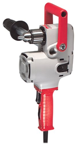 MILWAUKEE'S Right Angle Drill, 1/2 In, 300/1200 RPM,Black, Red and Silver (1675-6)