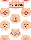 NOTEBOOK: pomeranian notebook, cute pomeranian gift, 120 wide ruled pages